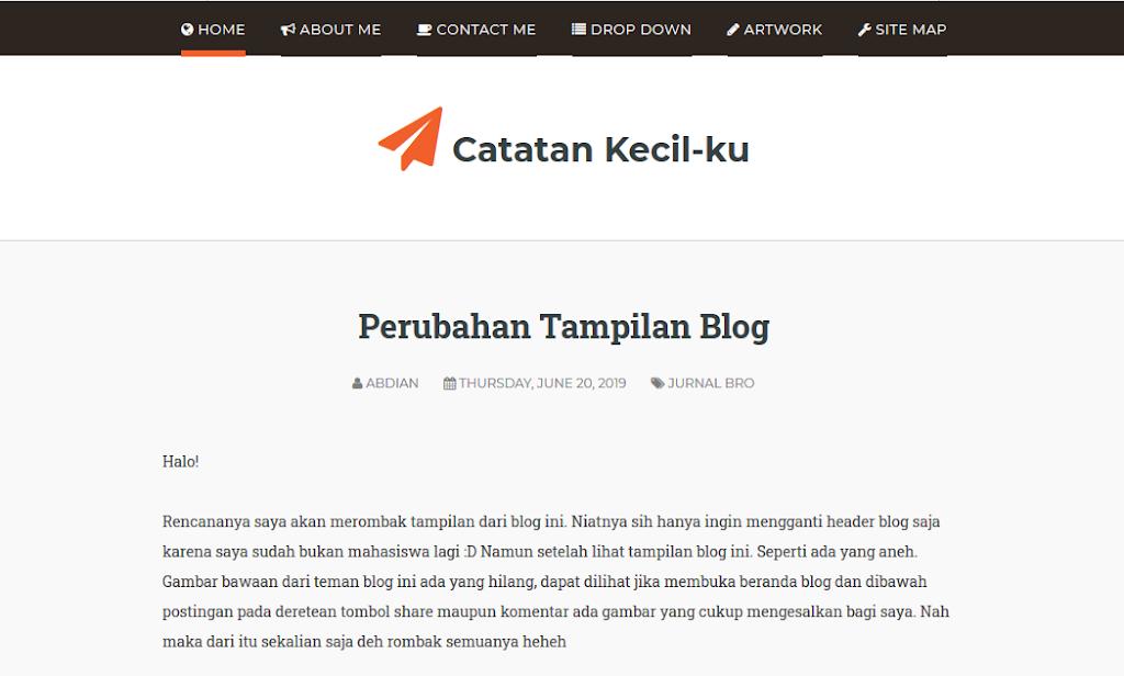 tampilan blog