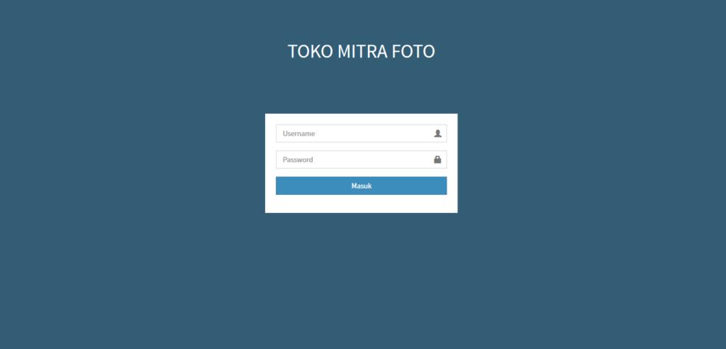 Tampilan Login Website